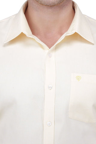 Light Yellow Cotton Shirt