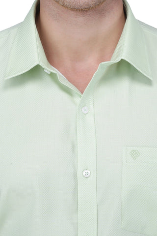 Image of Pitch Green Cotton Shirt