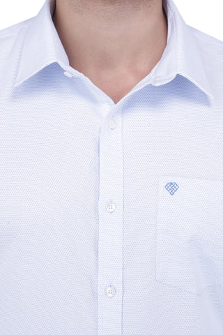 Image of Light Sky Blue Cotton Shirt