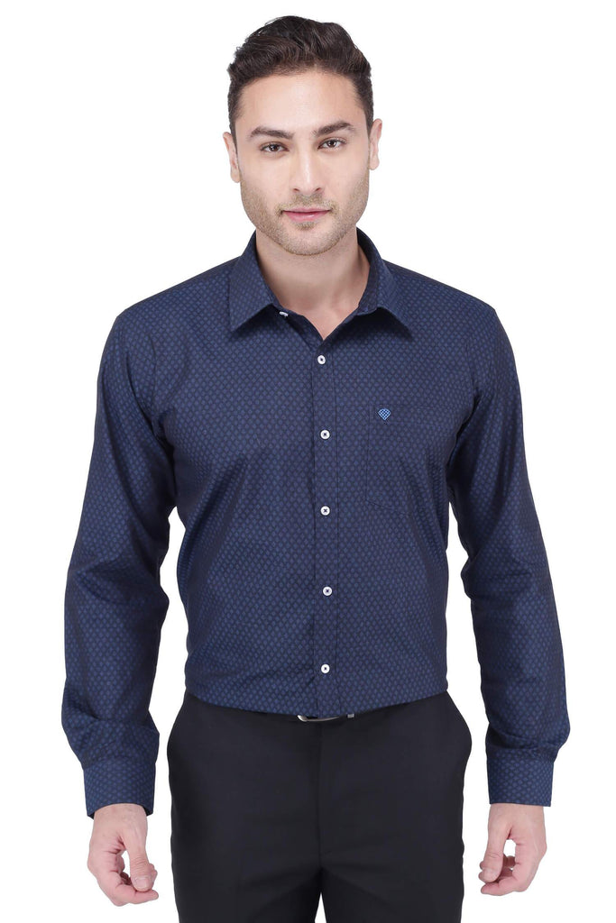 Black & Violet Cotton Shirt