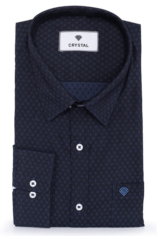 Image of Black & Violet Cotton Shirt