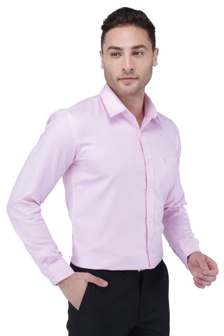 Image of Light Pink Cotton Shirt