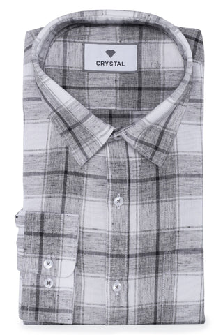 Black & White Cotton Check Shirt