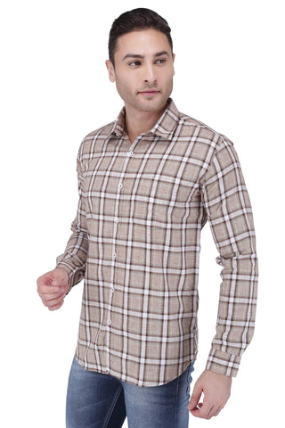 Chocolate & White Check Shirt