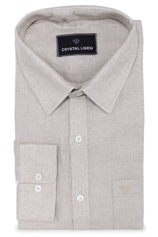 Light Brown Linen Shirt