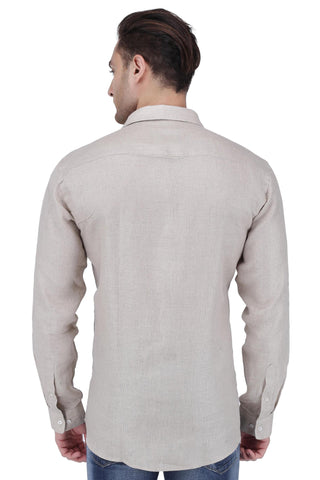 Image of Light Brown Linen Shirt