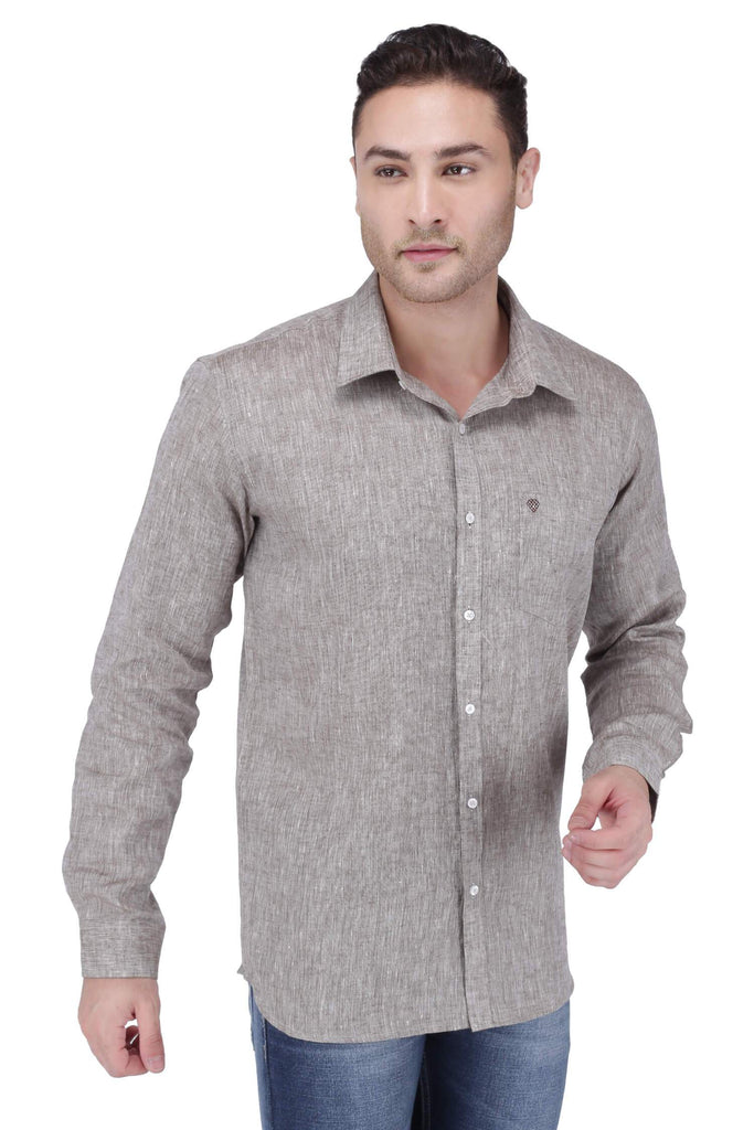 Chocolate Linen Shirt