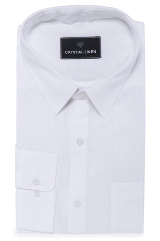 Image of White Linen Shirt