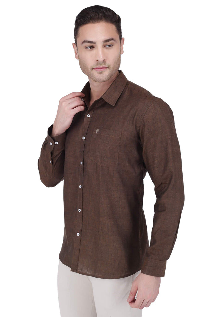Brown Linen Shirt