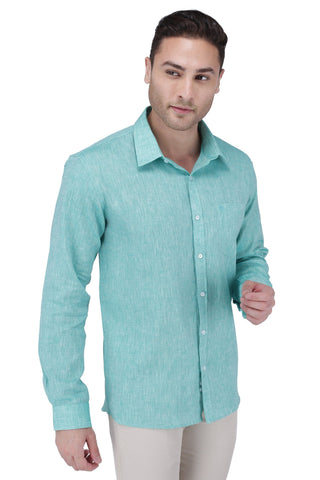 Image of Green Linen Shirt