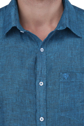 Image of Blue Linen Shirt