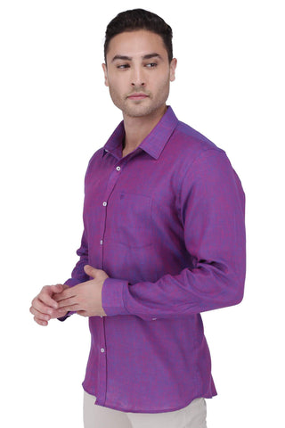 Image of Violate Linen Shirt