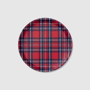 Holiday Plaid Large Plates (10 Count)