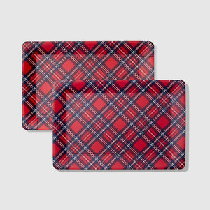 Holiday Plaid Serving Trays (2 Count)