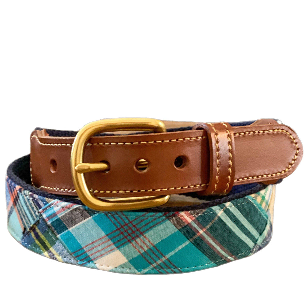 Load image into Gallery viewer, Madras Leather Tab Belt- Bethany - Just Madras