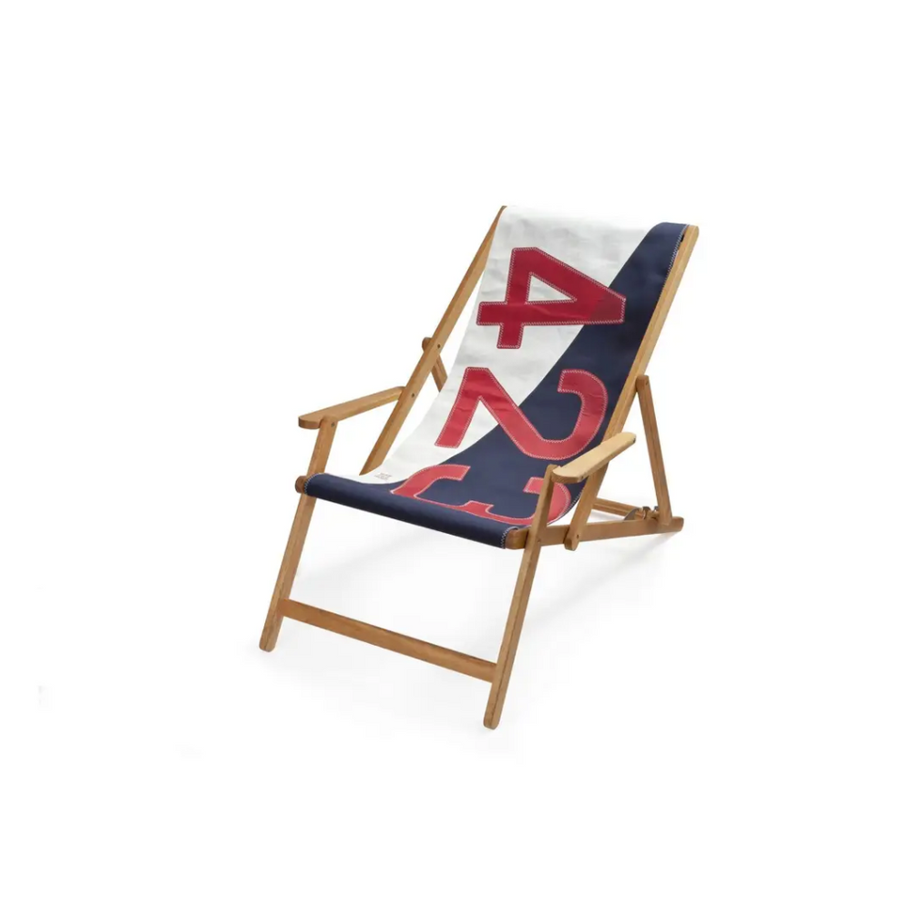 Deck Chair Dacron and Navy 423 Red