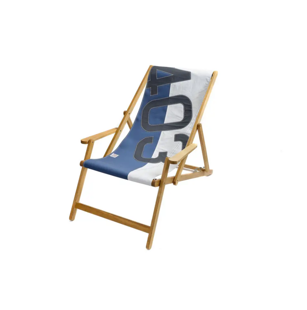 Deck Chair Dacron and Nattier Blue 403 Grey