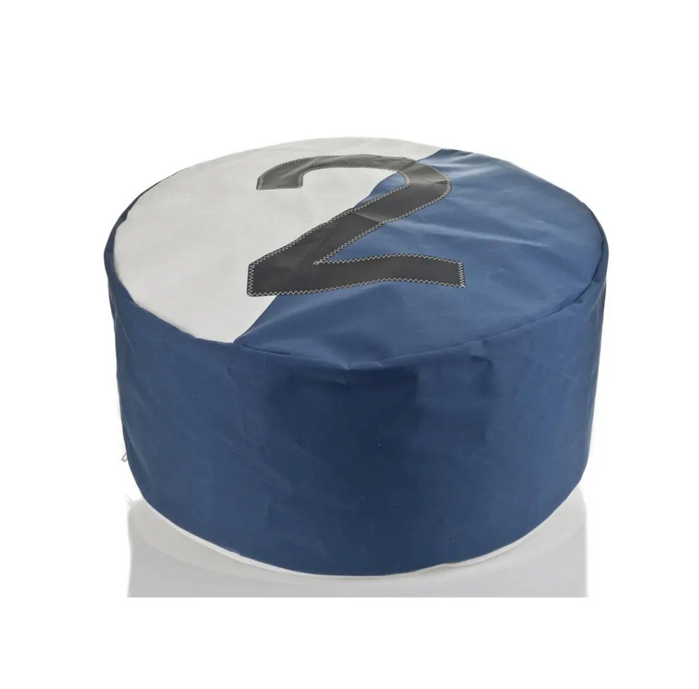 Load image into Gallery viewer, Pouf Duo Bicolor Dacron Nattier Blue 2 Grey