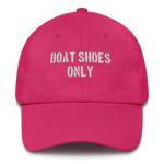 "Embroidered Hat- ""Boat Shoes Only"""