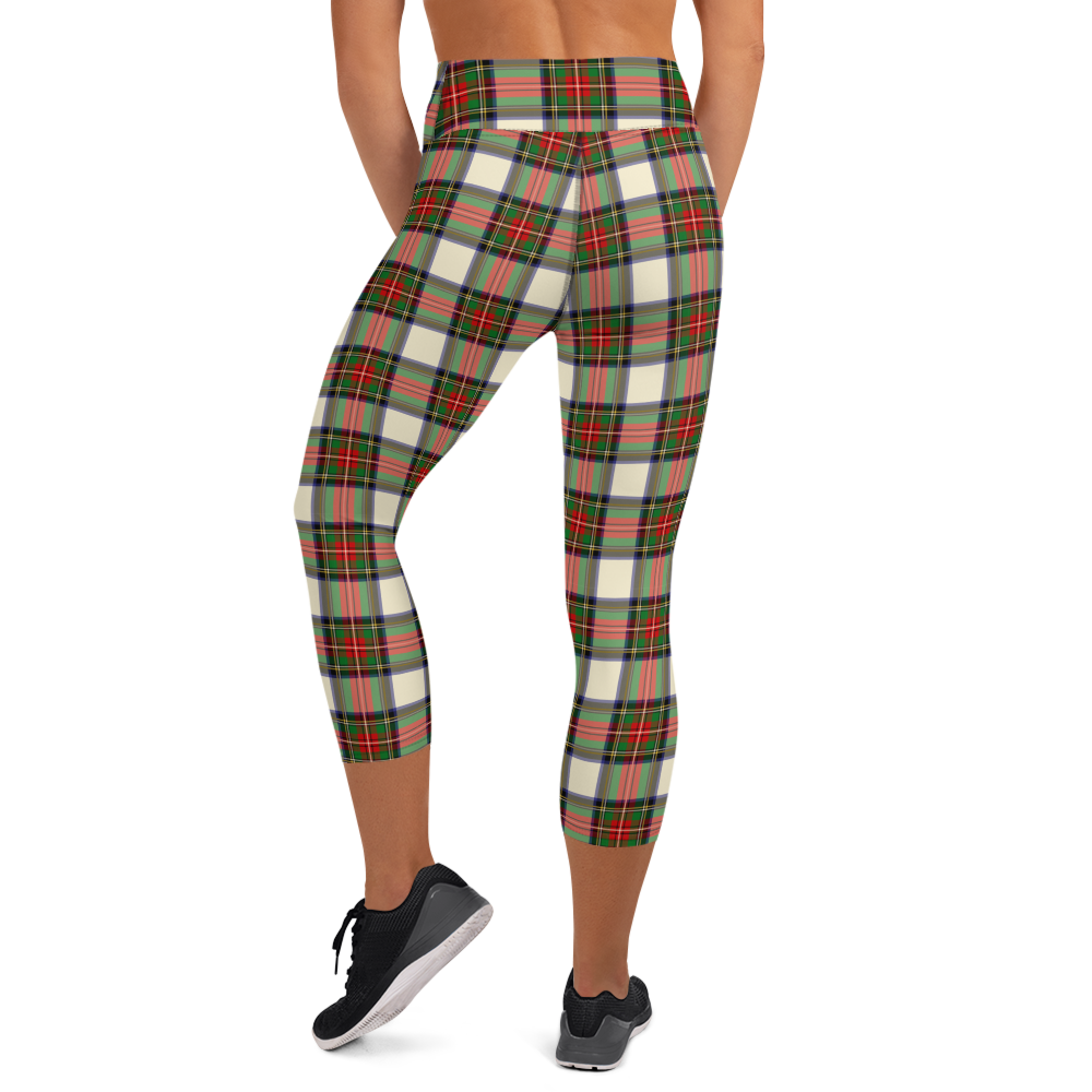 Load image into Gallery viewer, Slick Compression Cropped Legging- Stewart Tartan