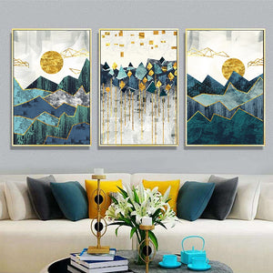 Golden Sunrise Canvas Prints