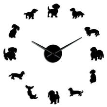 Load image into Gallery viewer, Modern Dachshund Frameless Wall Clock