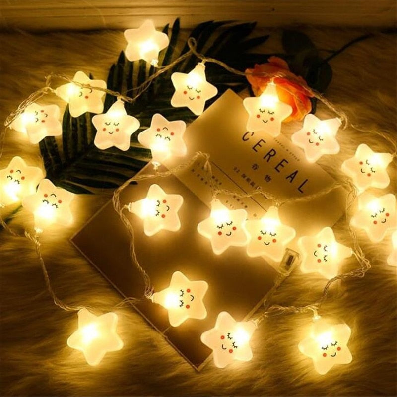Smiley Star String Lights