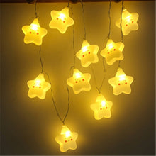 Load image into Gallery viewer, Smiley Star String Lights