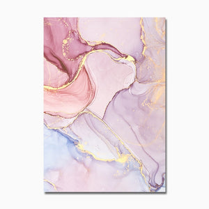 Floral Gold Canvas Prints
