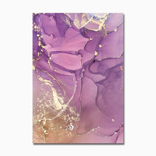 Load image into Gallery viewer, Floral Gold Canvas Prints