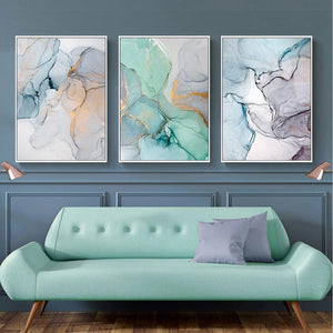 Green Waves Canvas Prints