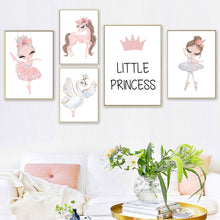 Load image into Gallery viewer, Ballerina Princess Canvas