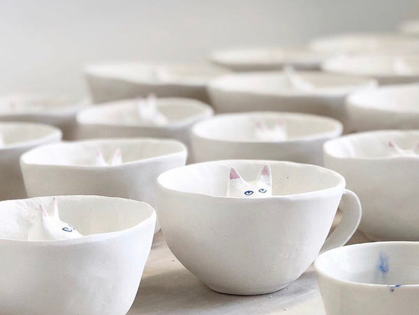 eleonor boström small kitty cup and saucer