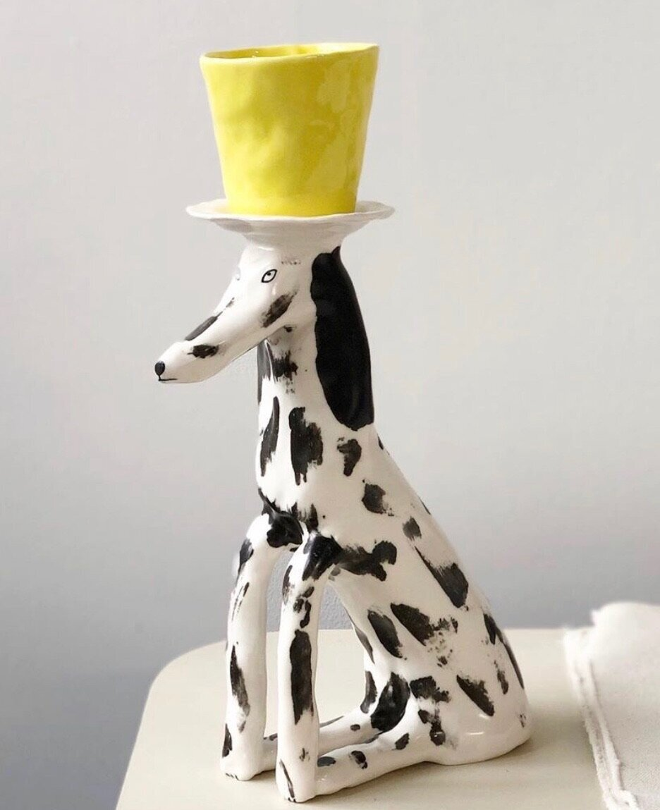 elenor boström spotted pup pedestal and cup
