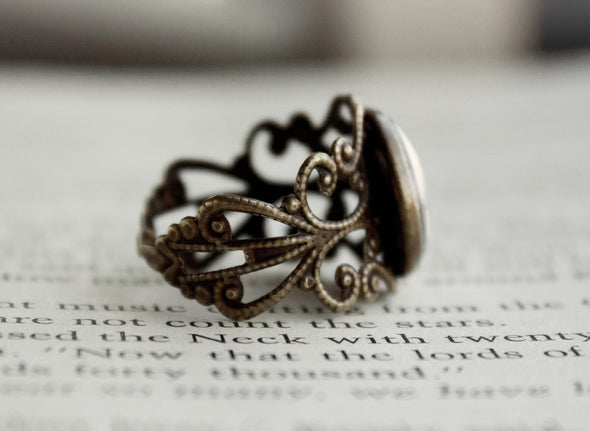 geeky nerdy bronze ring