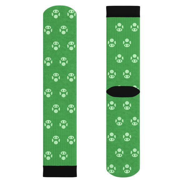 1UP Mushroom Super Mario Socks