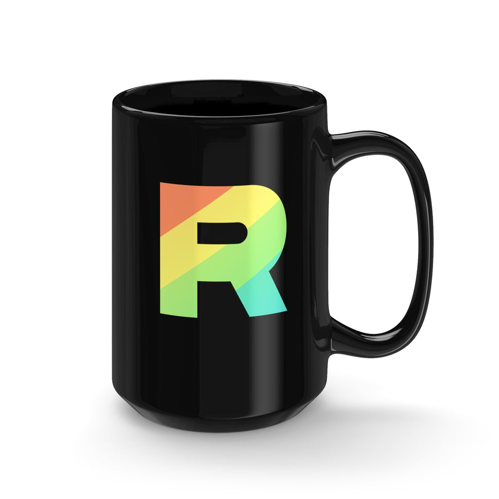 PKMN Team Rainbow Rocket Tall Black Mug