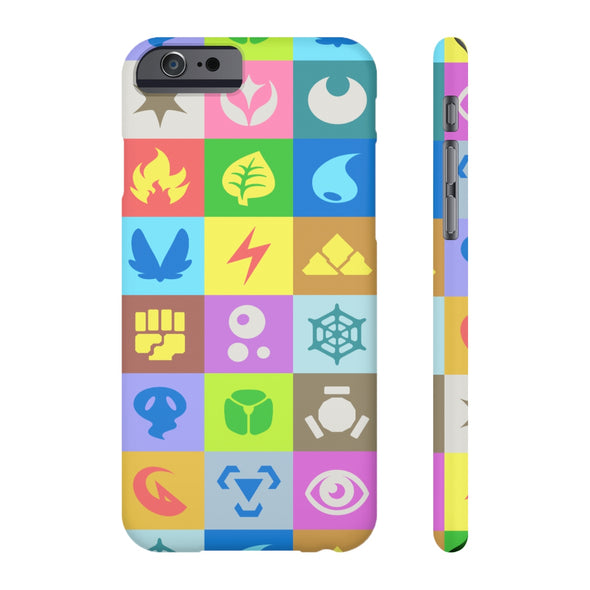 PKMN Pop Art Type Symbol Pattern Phone Case