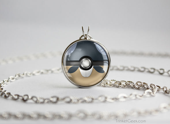 Rattata Pokemon Alola Form Themed Pokeball pendant