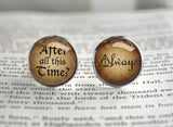 After all this time Always quote Harry cufflinks Snape Potter