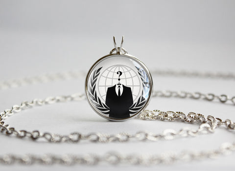 Anonymous internet meme pendant