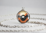 Pokemon Arcanine Themed Pokeball Pendant
