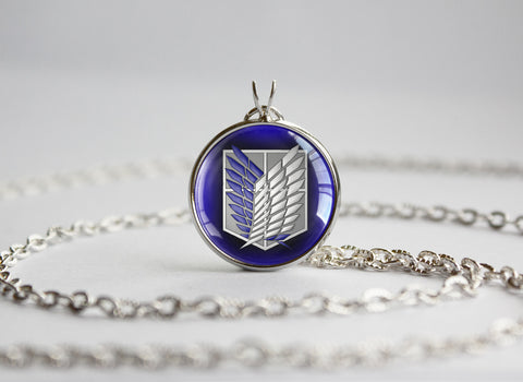 Attack on Titan Shingeki no Kyojin necklace SNK Survey corp / Scouting legion