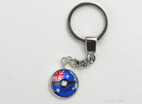 Australian Flag themed Pokeball Key Chains