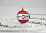 Austria Pokemon Flag pokeball necklace