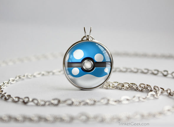 Pokemon Azumarill Themed Pokeball Pendant