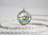 Pokemon Bagon Pokeball Pendant Necklace