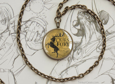 Thrones necklace Baratheon Storm's End map
