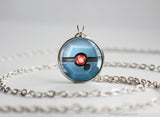 Pokemon Beldum Pokeball Pendant Necklace