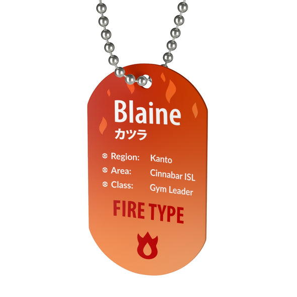 Blaine Gym Leader Pokemon Necklace